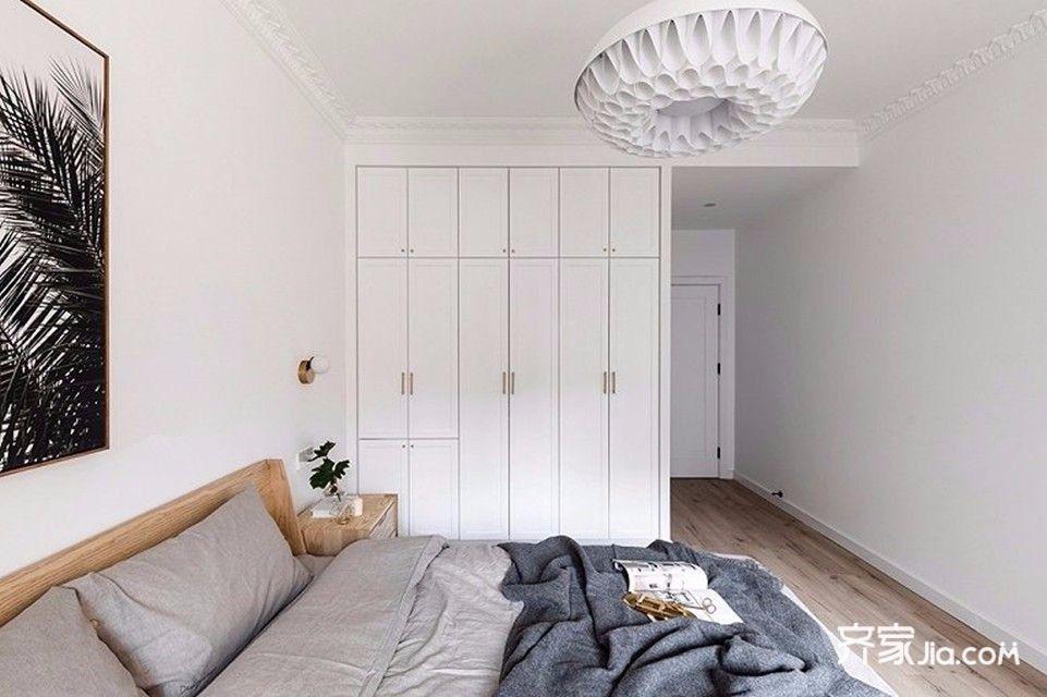 120平北欧风格装修卧室效果图