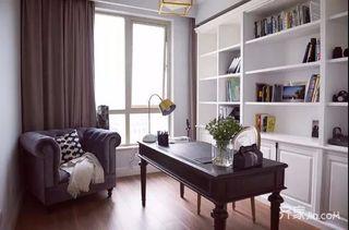 三居室混搭风格装修书房布置图