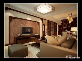 90平的中式装修客厅布局图