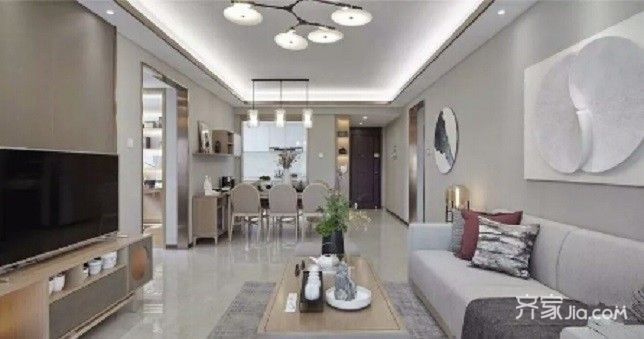 130平宜家风格装修客厅效果图