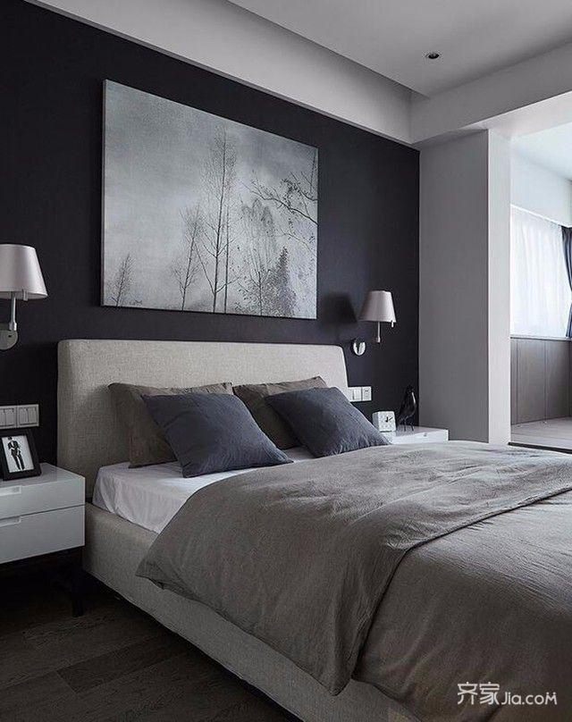 80平欧式风格装修卧室效果图