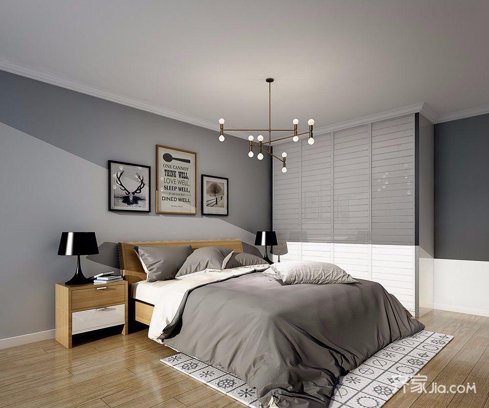 80平欧式风格装修卧室设计图