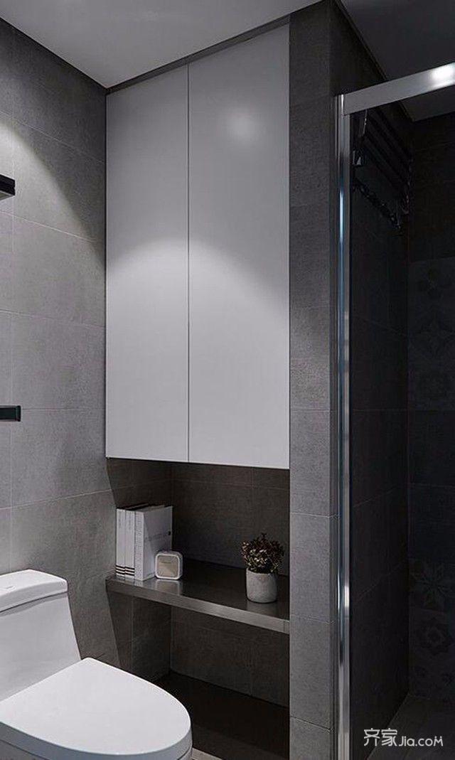 80平欧式风格装修卫生间装潢图