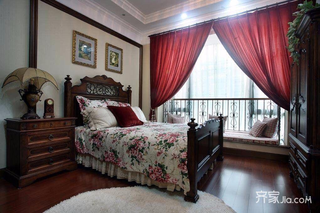 三居室美式乡村家卧室效果图