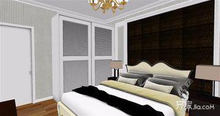 75平米美式二居室装修效果图 简单大气