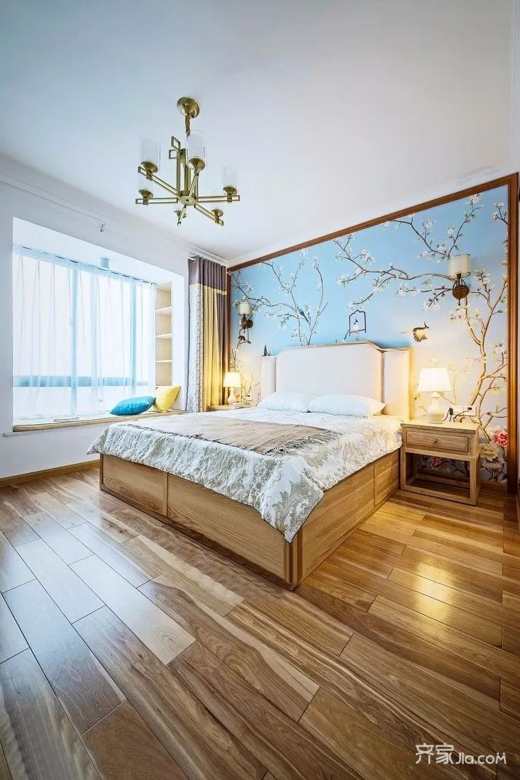 135平中式风格装修卧室装潢图