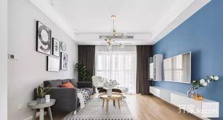 125平宜家风格三居室装修客厅装潢图