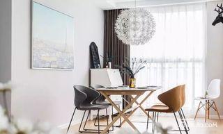 125平宜家风格三居室装修餐厅布置图