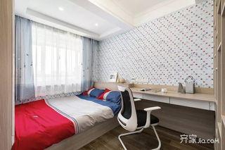 135㎡简约风格三居室装修儿童房布置图