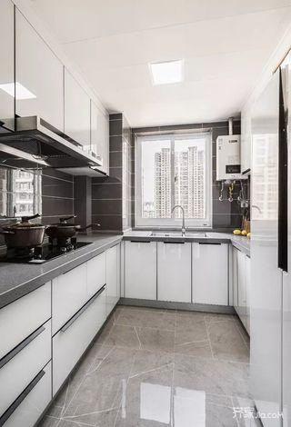 135㎡简约风格三居室装修厨房装潢图