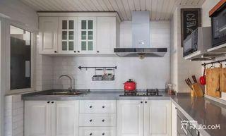 120㎡美式风格三居室装修厨房装潢图