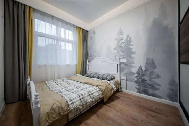140㎡现代港式,餐厅与卧室的背景墙,文艺气息十足!图片
