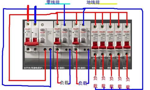 漏电开关怎么接线  漏电开关接线注意事项