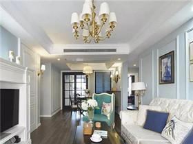 现代美式装修样板间  令人赞不绝口的120平三居室