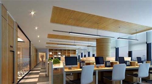 前台作为公司的门面,在灯具的选择上要根据企业的整体定位和装修效果图片