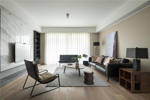 三室一厅装修效果图 100平米现代家装演绎经典黑白灰