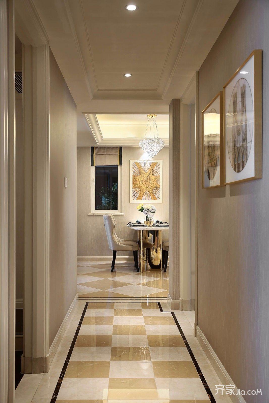 武汉装修案例 轻奢有度   客厅 轻奢主义,低调的奢华,质感很强 拼花地图片