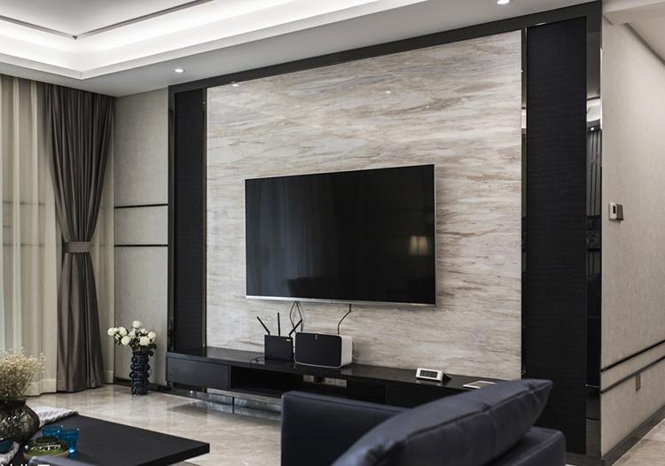 简约客厅背景墙怎么设计 客厅电视背景墙多大合适