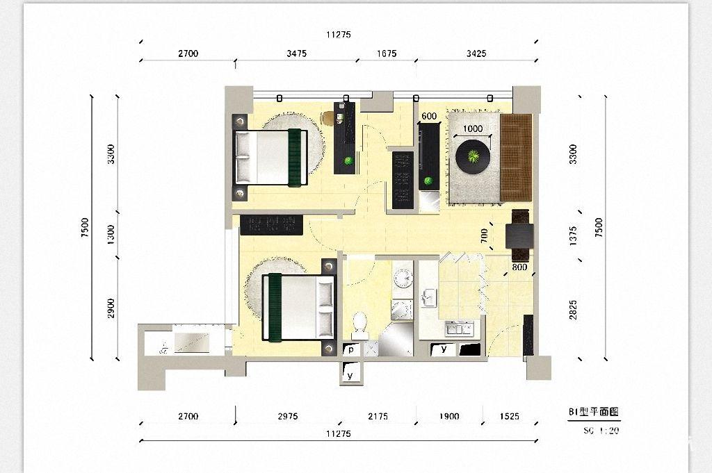装修效果图,110㎡美式舒适之家装修案例效果图 齐家装修网