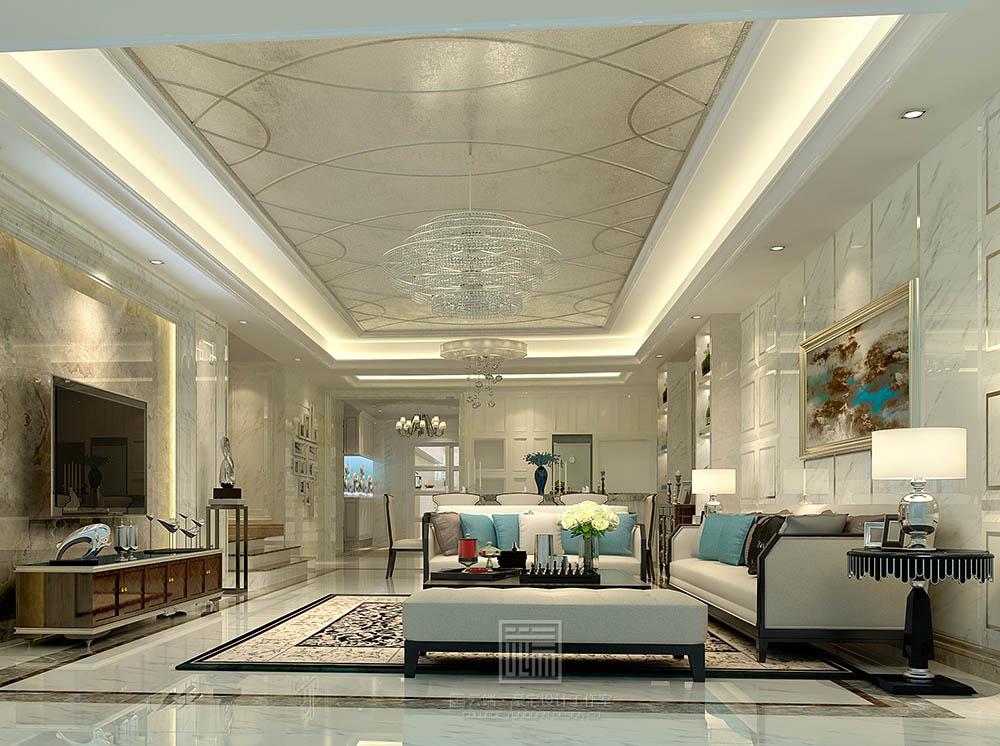 资讯 专区 装修 黑白简欧客厅  的设计风格其实是经过改良的古典欧式