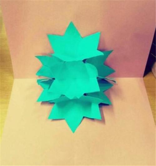 手工制作圣诞贺卡 圣诞节立体折纸花贺卡