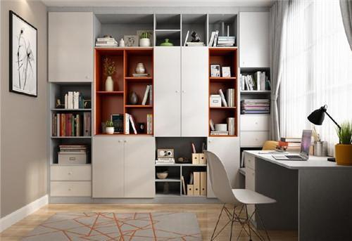 书桌书柜组合设计效果图 室内摆书桌书柜组合实用吗