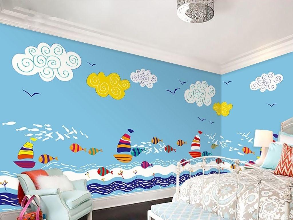 选一个儿童房手绘墙,让孩子的想象天马行空