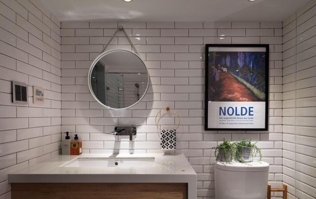 82㎡北欧风格装修案例,装修花了12万,卫生间最拉风抢眼!