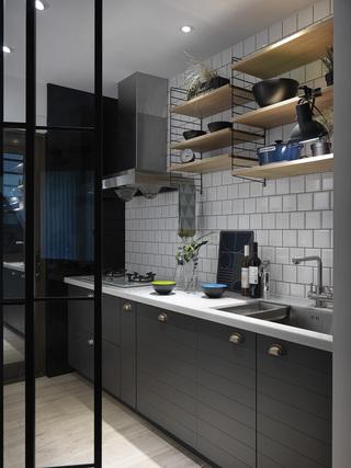 小户型个性北欧风厨房装修效果图