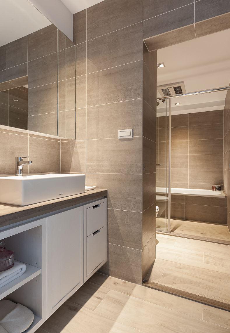 小户型简约风二居室卫生间装修效果图