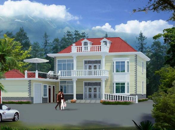 外墙瓷砖搭配效果图 农村自建房色彩推荐