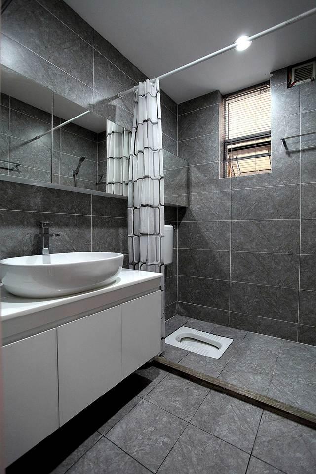 85平北欧风格两居卫生间装修效果图