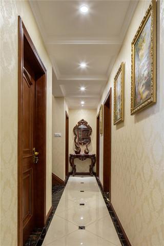 新古典美式风格别墅走廊装修效果图