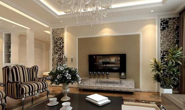 石膏线简约造型电视墙有哪些优点
