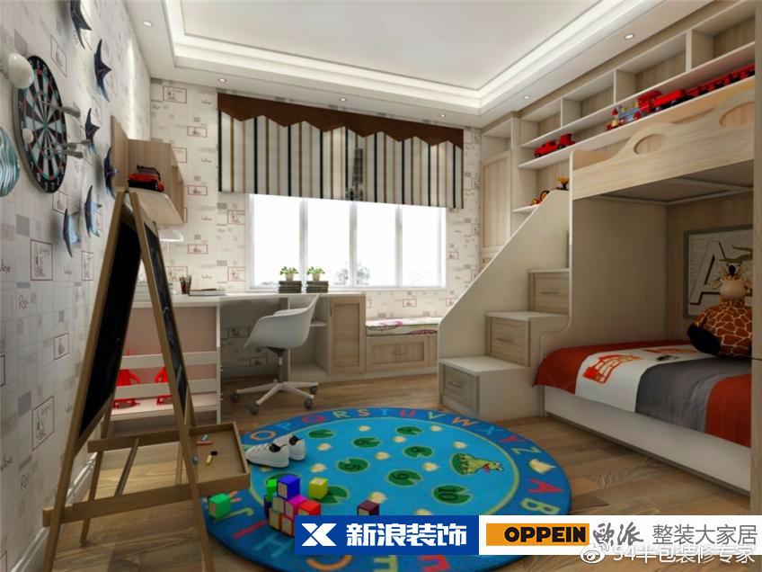 一儿一女儿童房怎么设计 一儿一女房间装修图