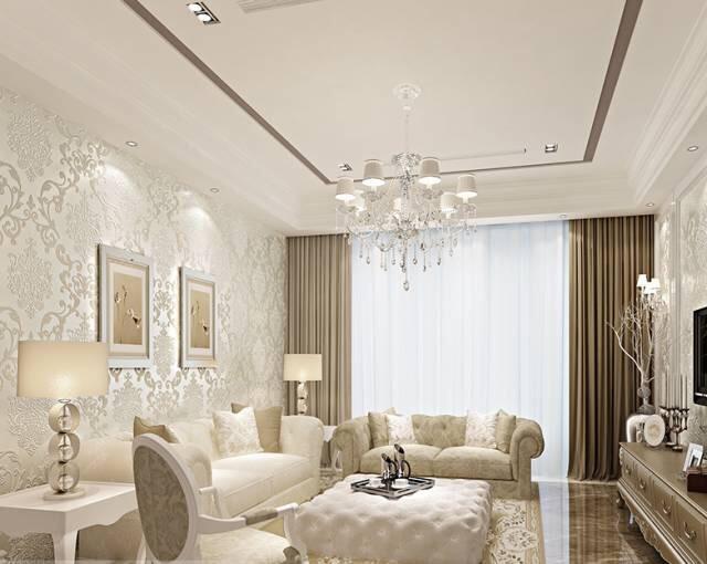 【新空间装饰】客厅壁纸装修效果图 让你的客厅光鲜亮丽