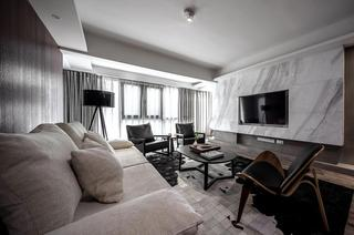 140平米现代三居室装修效果图