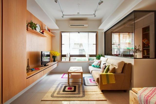 66平小户型公寓客厅装修效果图