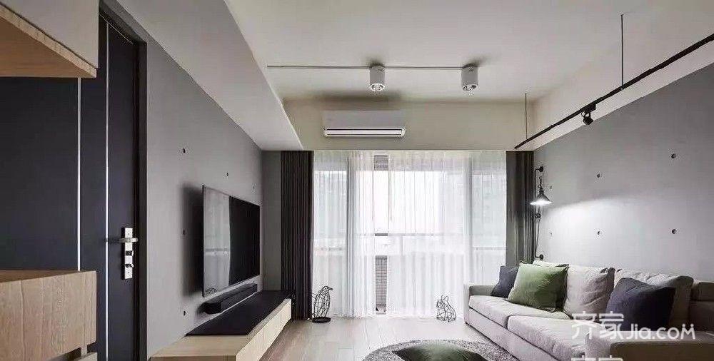 73㎡二居室現代簡約風