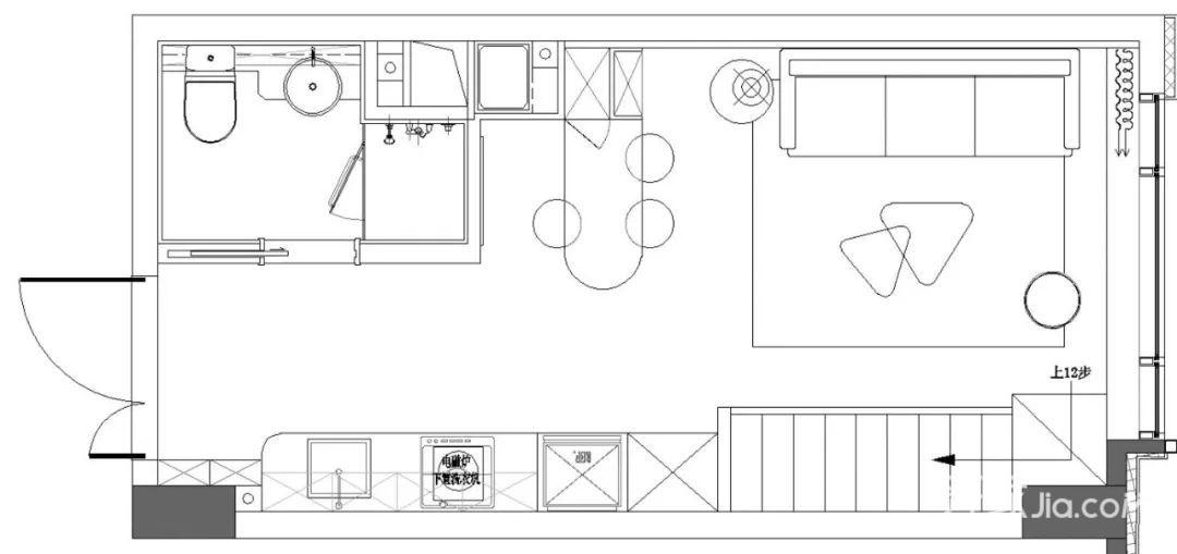 25万60平米北欧loft装修效果图,品质生活小二层装修图图片