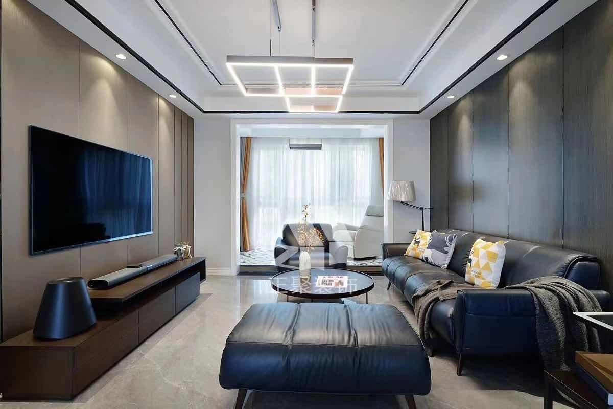 130㎡三居室現代風格