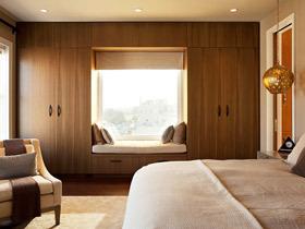20个现代简约卧室飘窗 增容空间小秘诀