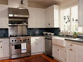 20图地中海风厨房 重温经典L型空间设计