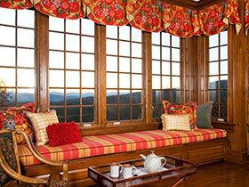18款中式原木飘窗欣赏 在家感受大自然
