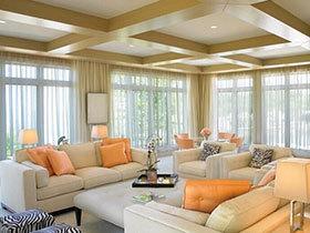 20款客厅吊顶设计 搭出田园风家居