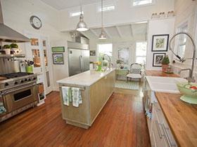 20种厨房吊顶设计 舒适宜家风