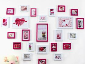 最有爱!13款心型照片墙设计图