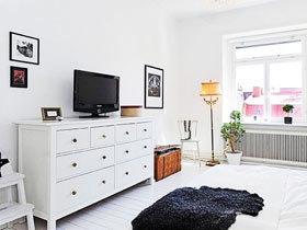 纯白电视柜图片 18图装扮简洁空间