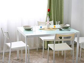 清新餐桌效果图 15款彩色餐厅设计