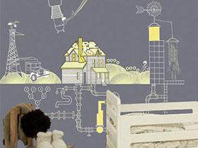 童话故事搬上墙 12款儿童壁纸图片